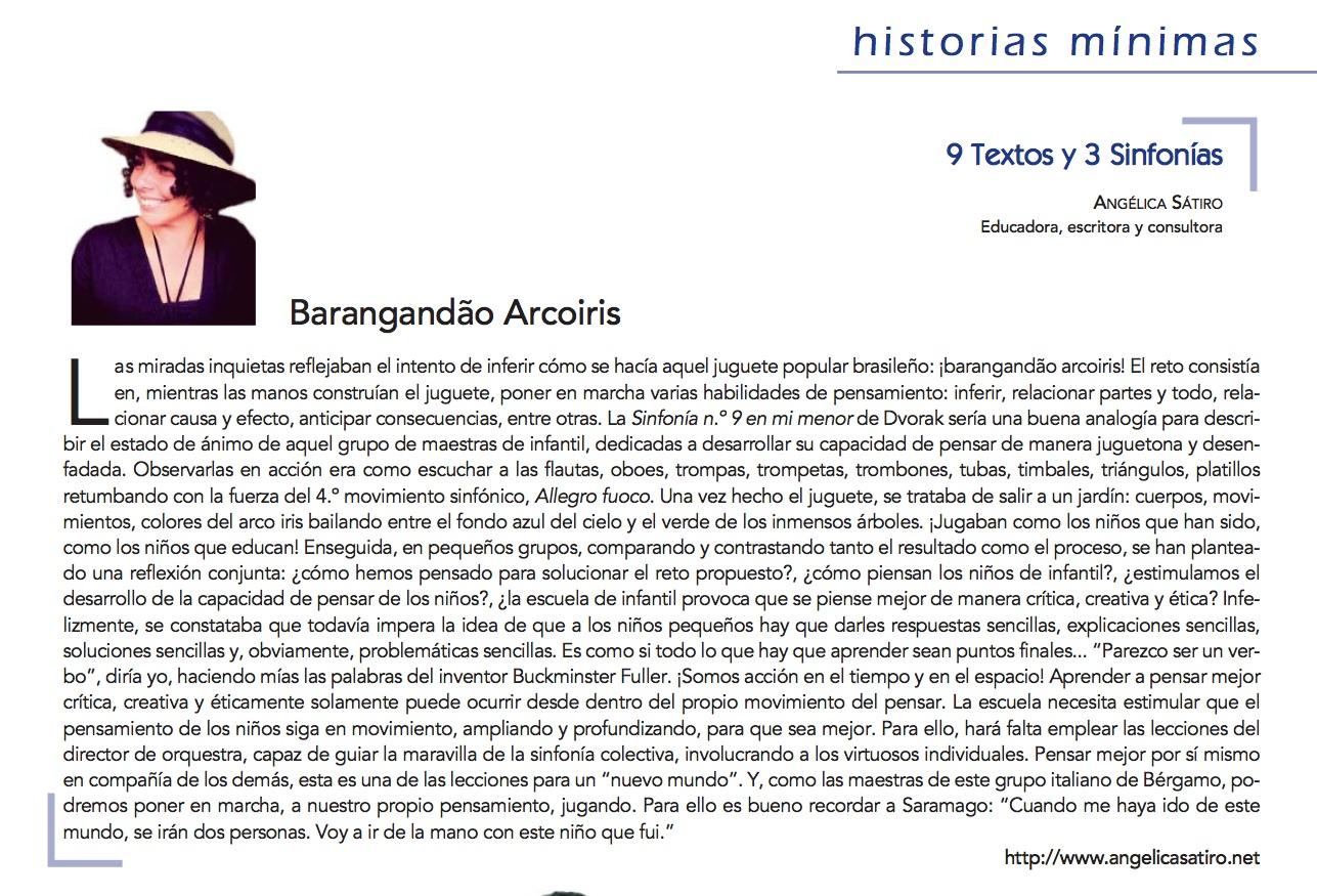textos y 3 sinfonías: ¡barangandao arcoiris!