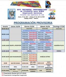 Programa XXVI Encuentro Iberoamericano de filosofia para niños valencia13